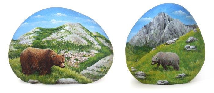 Sassi dipinti - orsi abruzzesi