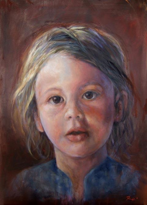 Très Ritratti di bambini - Patty | L'arte di Roberto Rizzo GD43
