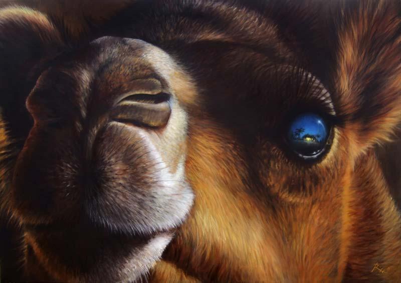 Un dipinto sul Natale realizzato ad acrilico da Roberto Rizzo