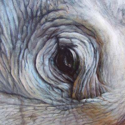 Pittura acrilica - dettaglio dipinto