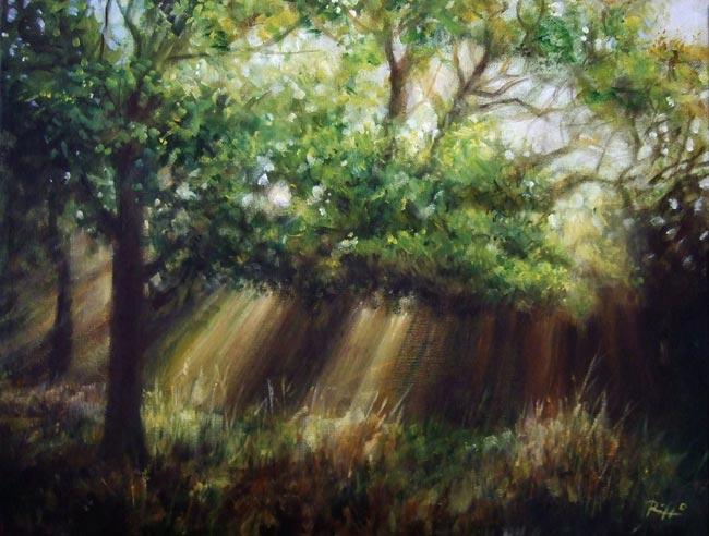 Quadri paesaggi dipinti su tela