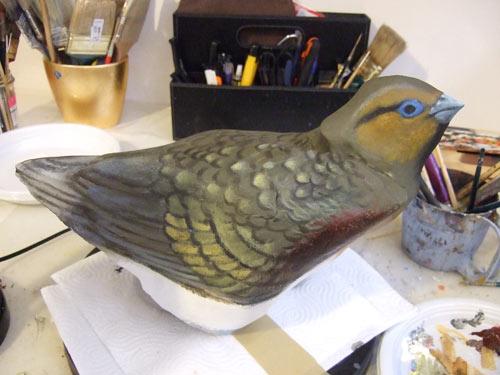 Sassi dipinti uccelli