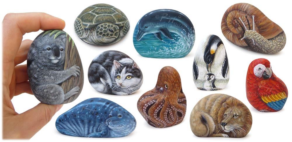 Bomboniere originali | Sassi dipinti con animali