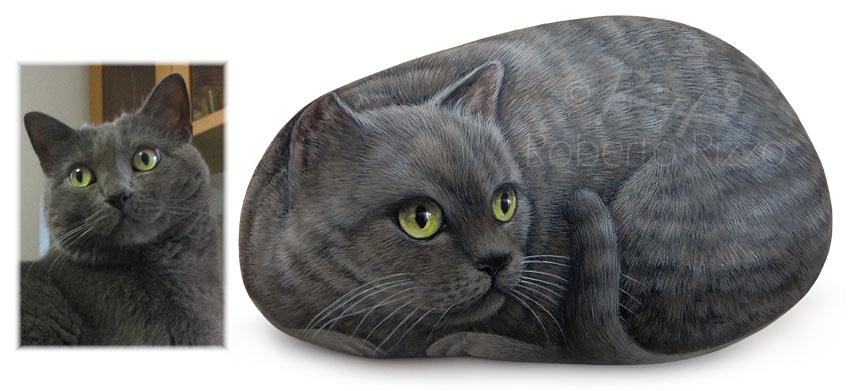 Gatti dipinti | Ritratto di Blu