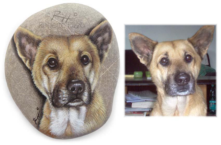 Cani dipinti su pietra