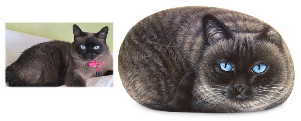Gatti dipinti sui sassi - Susy