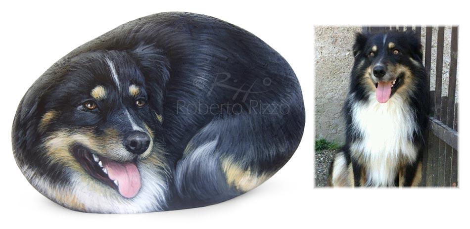 Cani dipinti su pietra - Lillo