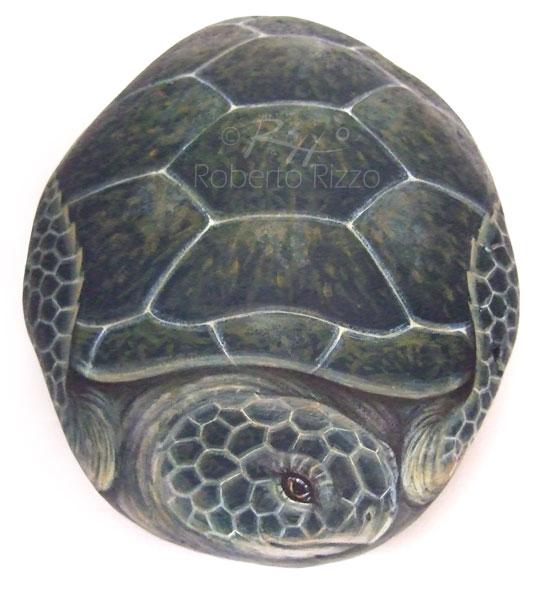 Tartarughe dipinte sui sassi
