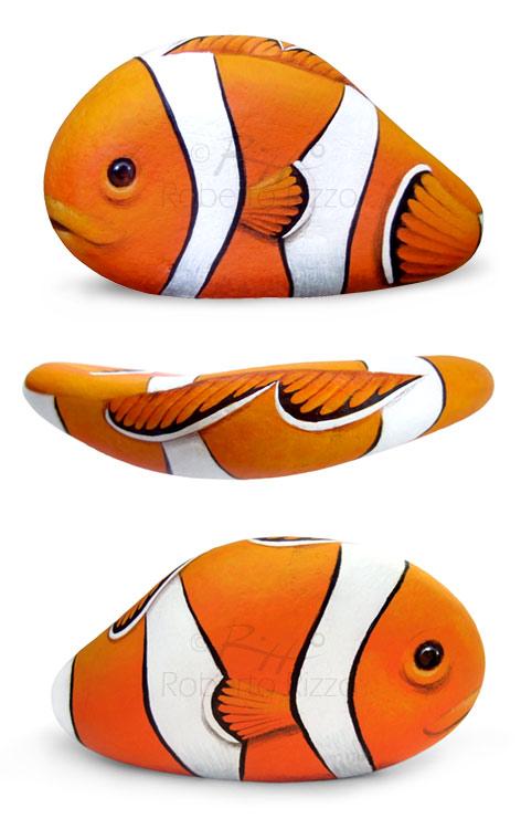 Pesci dipinti sui sassi - Nemo