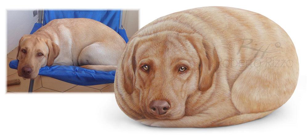 Pietre dipinte personalizzate - ritratti di cani sui sassi