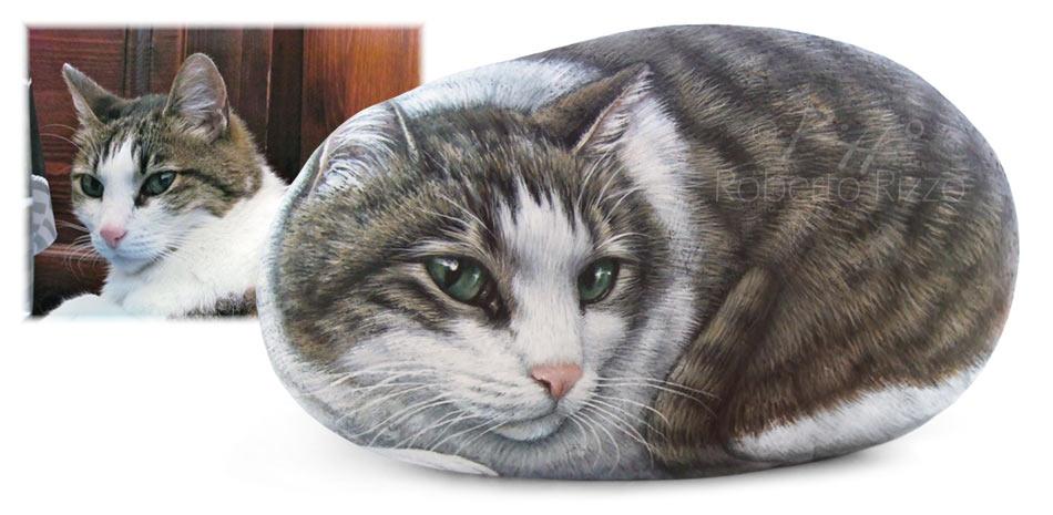 Gatti dipinti su pietra - Mila