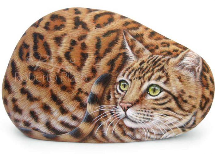 Gatto Del Bengala Dipinto