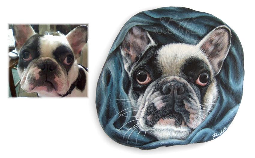 Cani dipinti - ritratto di Louie