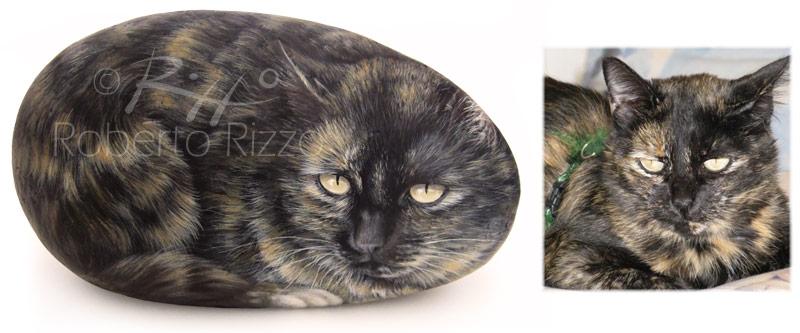Minni - acrilico su pietra - cm. 24