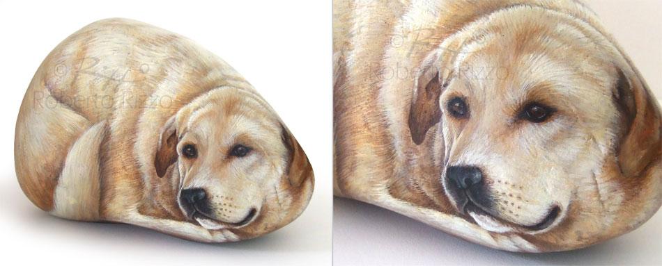 Sassi dipinti - labrador