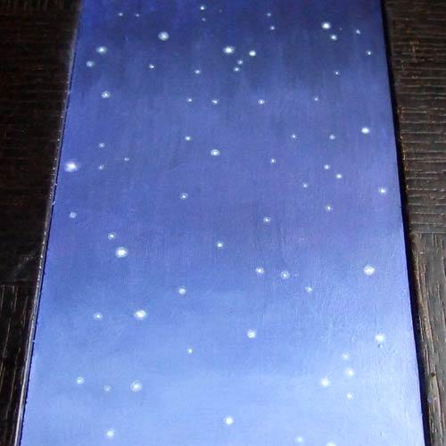 Spicchio di luna (cielo notturno)
