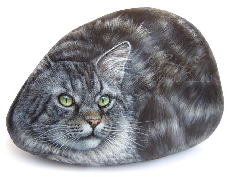 Gioia - acrilico su pietra - cm. 30