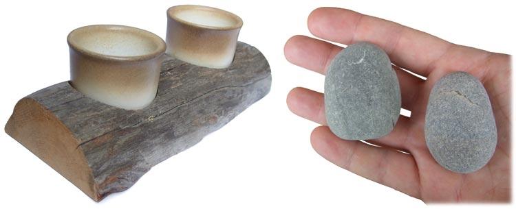 Porta tazze e sassi per gufi