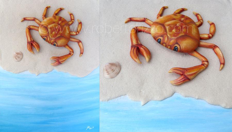 Granchio su spiaggia