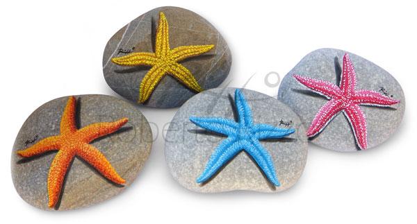 Stelle marine - acrilico su pietre - cm. 8 (cad.)