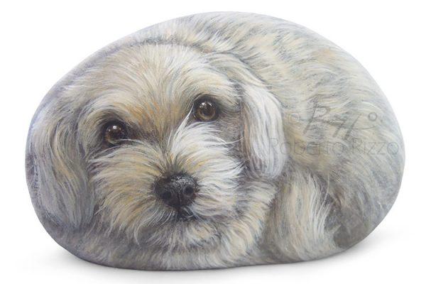 Puppy - Acrilico Su Pietra - Cm. 13
