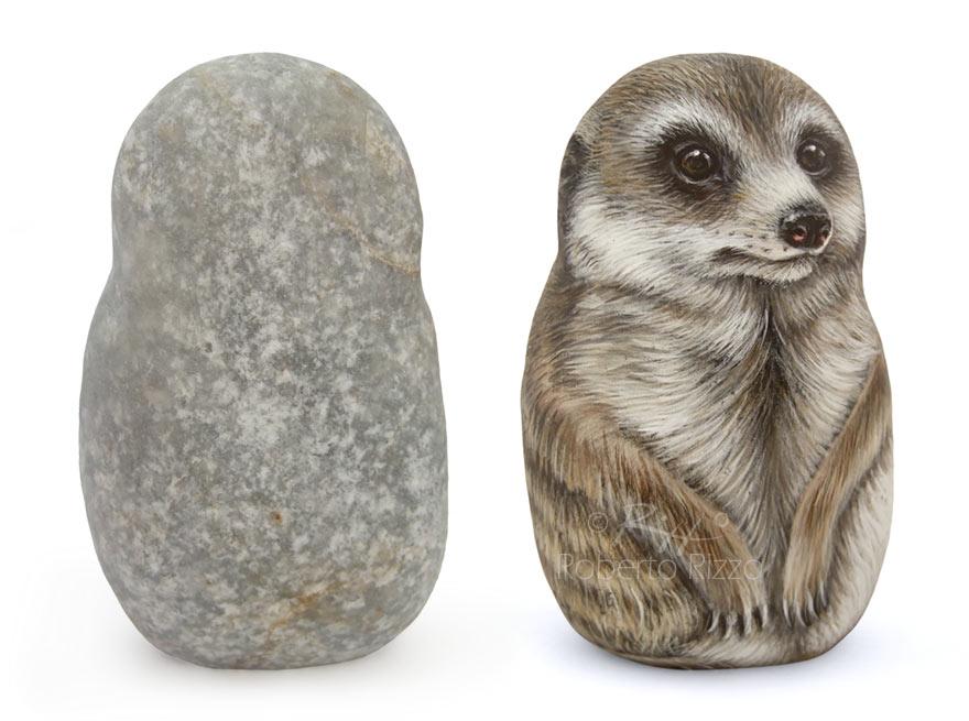 Suricato - acrilico su pietra - cm. 10