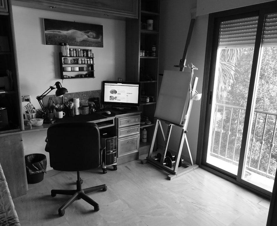 Lo studio atelier di Roberto Rizzo